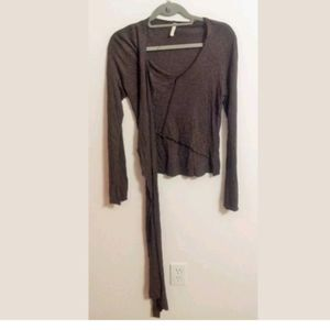 Tom K. Nguyen Knit Top Attached Scarf...M